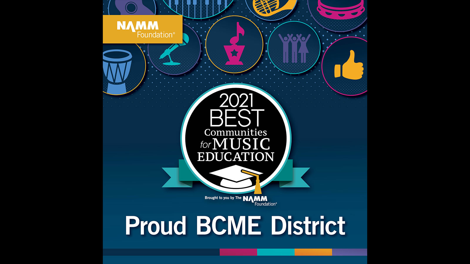 NAMM Foundation - 2021 Best Communities for Music Education - Proud BCME District