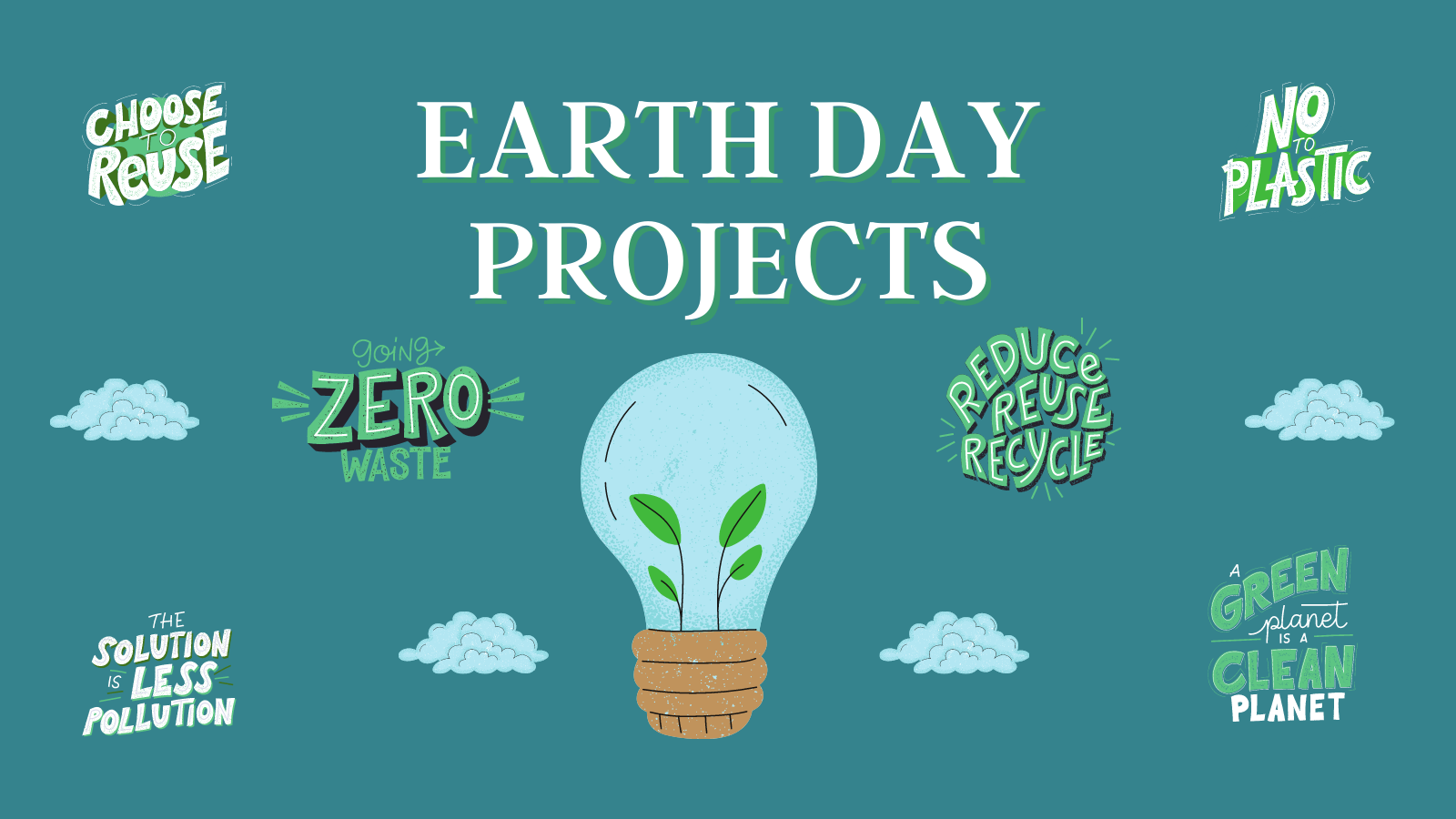 earth day projects graphic
